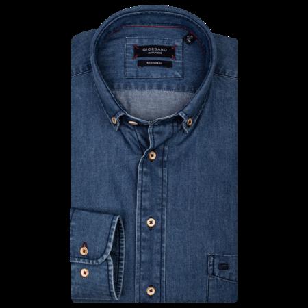 Giordano Denim Shirt - Navy