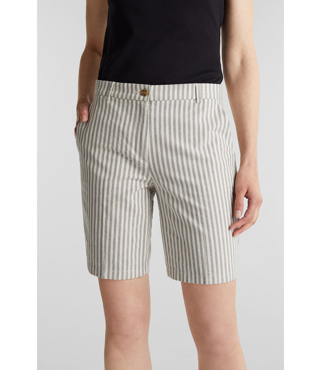Esprit Chambray Short with Stripes - Navy