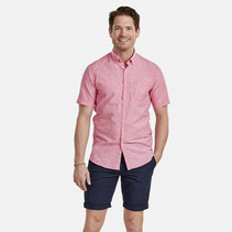 Short Sleeve Shirt Linen-Mix - Pink