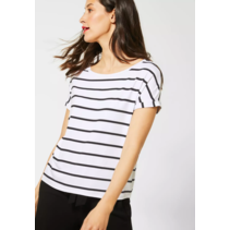 T-Shirt with Stripes Crista - White