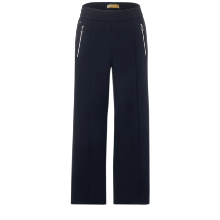 Street One Pants with Wide Leg and Zipper Emee - Deep Blue