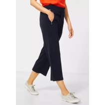Pants with Wide Leg and Zipper Emee - Deep Blue