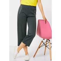 Pants with Wide Leg and Zipper Emee - Comfort Green