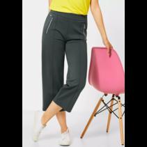 Wide Leg Hose mit Zipper Emee - Comfort Green