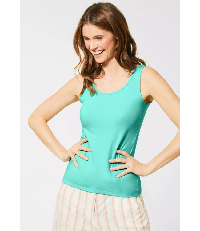 Cecil Organic Tanktop Linda - Light Molecule Mint Green