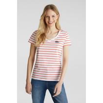 Streifen-Shirt - Coral