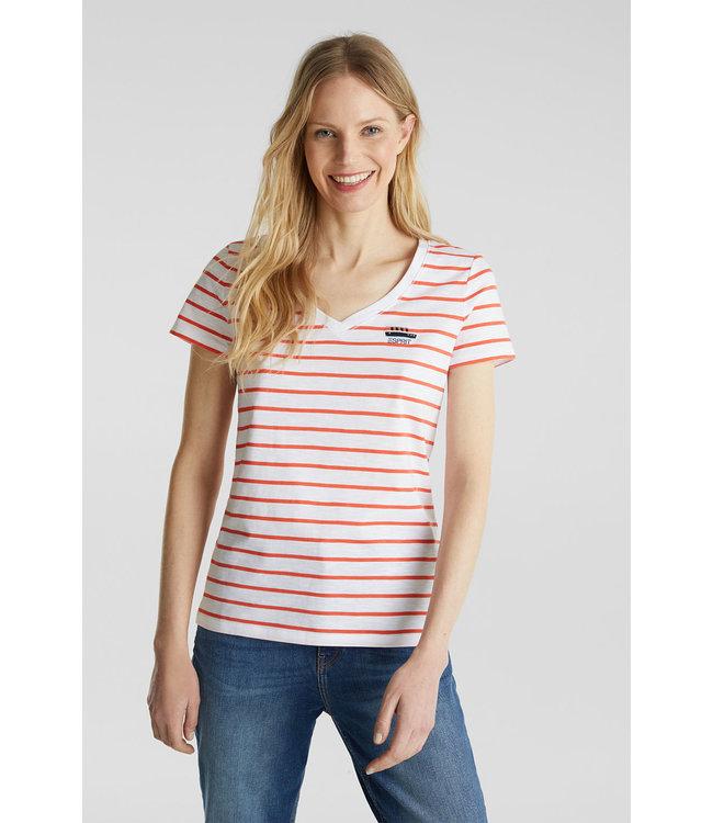 Esprit Gestreept Shirt - Coral