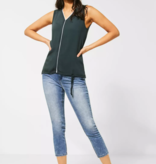 Street One Top with V-Neck Ayla - Comfort Green