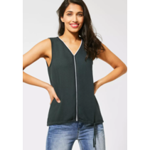 Top with V-Neck Ayla - Comfort Green