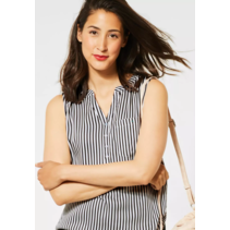 Blousetop with Stripes - White