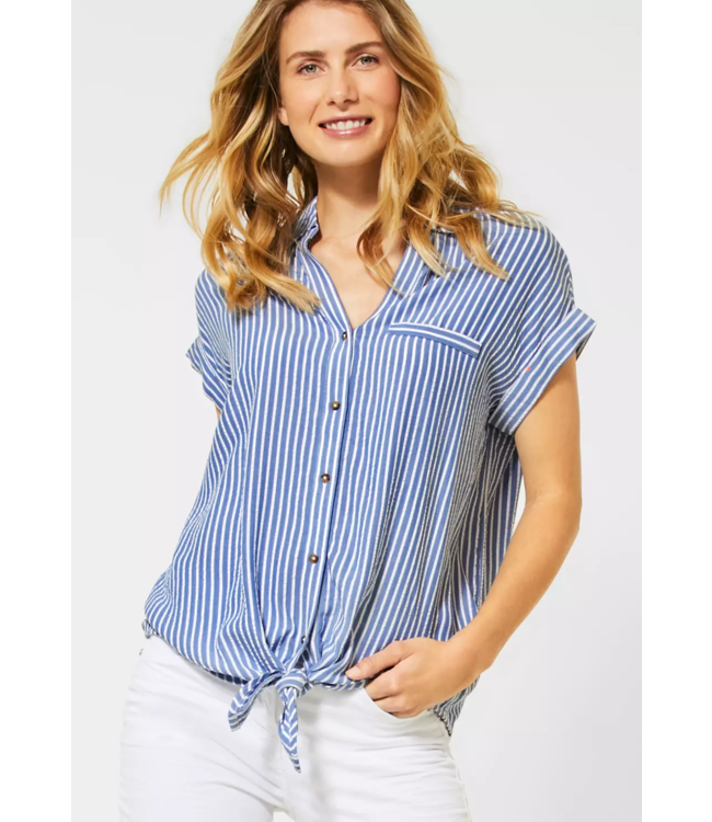 Cecil Blouse with Stripes - Blouse Blue
