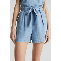 From TENCEL™: Short in Denim Look - Blue Bleached