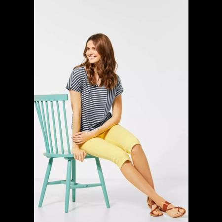 Cecil T-Shirt mit Streifenmix - Slate Green
