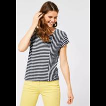 T-Shirt met Strepenmix - Slate Green