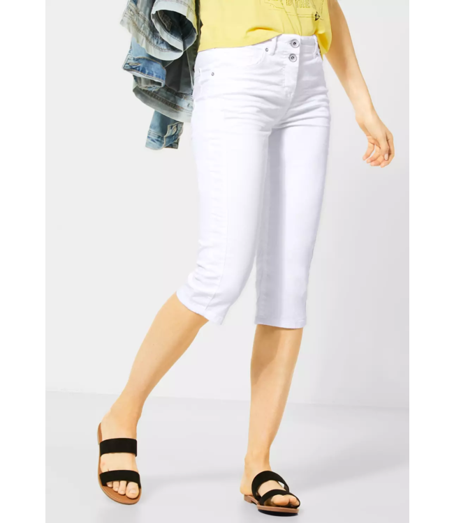 Cecil Colored Pants Vicky - White
