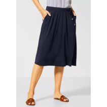 Comfortable Skirt in A-line - Deep Blue