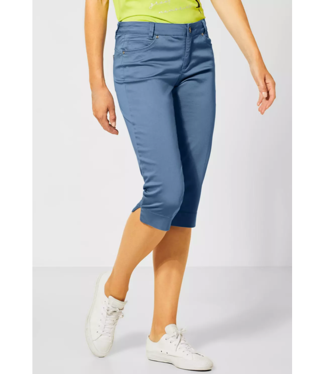 Street One Capri-Broek Casual Fit Yulius - Smoky Blue