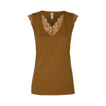 Top with Lace Pylle 236 - Dark Caramel