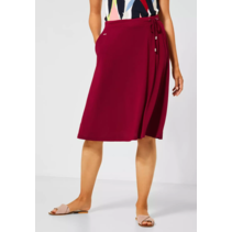 Comfortable Skirt in A-line - Sweet Wine