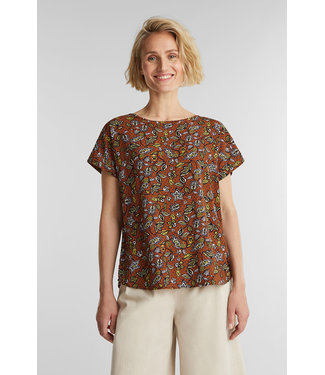 Esprit Blouse from LENZING™ ECOVERO™ - Rust Brown
