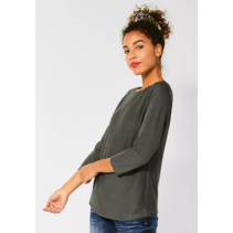 Sweater with Batwing Sleeves - Shady Olive