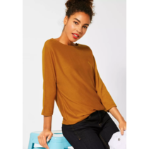 Sweater with Batwing Sleeves - Foxy Caramel