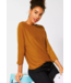 Street One Sweater with Batwing Sleeves - Foxy Caramel
