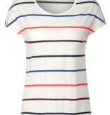 Cecil T-Shirt met Bonte Strepen - Pure Off White
