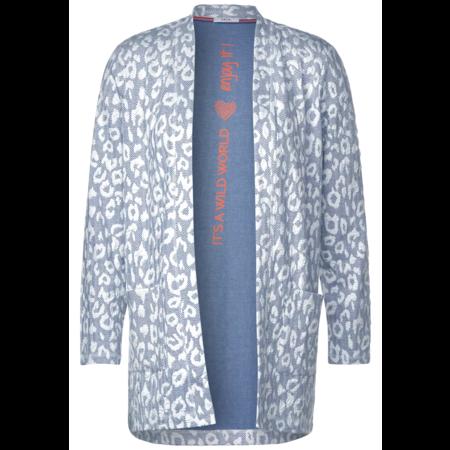 Cecil Vest met Dierenprint - Cheeky Blue
