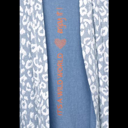 Cecil Cardigan with Animal Print - Cheeky Blue