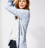 Cecil Strickjacke mit Animal Print - Cheeky Blue
