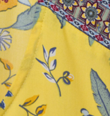 Cecil Blouse with Leaf Print - Radiant Yellow