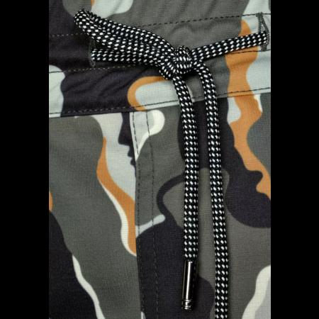 Street One Losse Broek met Camouflage Print Bonny - Shady Olive