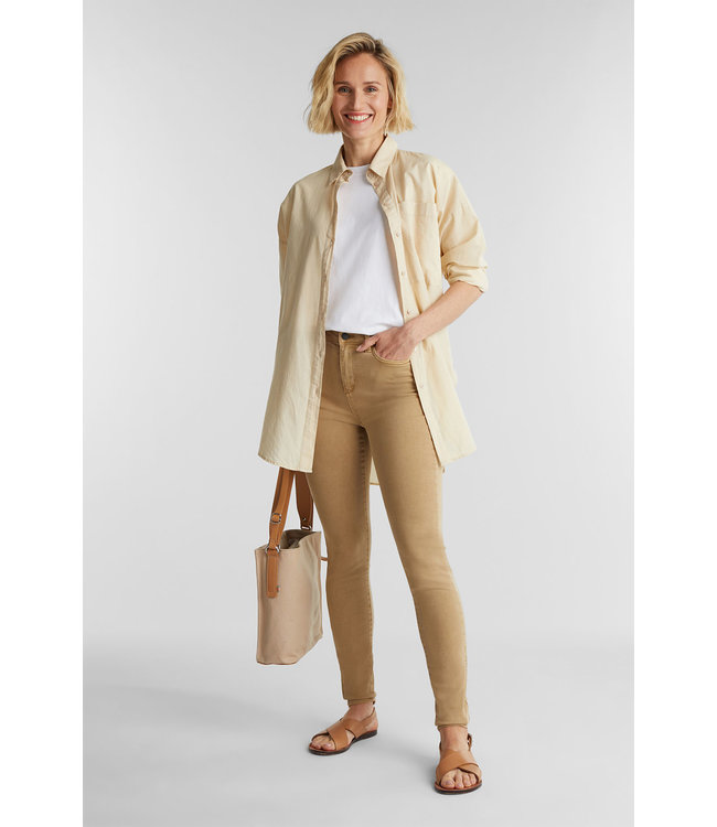 Esprit Pants with Shaping-Function - Camel