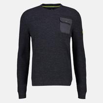 Round Neck Sweater - Navy