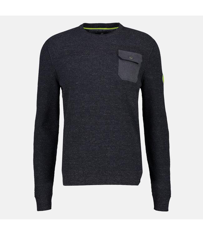 Lerros Round Neck Sweater - Navy