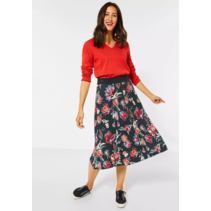 Midi-Skirt wiht Floral Print - Endless Green