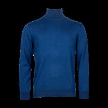Sweater with Turtleneck - Cobalt