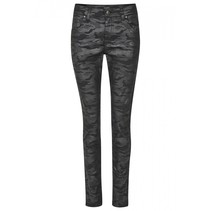Skinny Jeans with Camouflage - Black