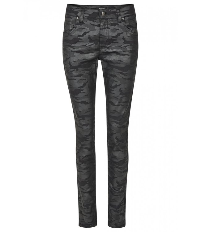 Angels Jeanswear Skinny Jeans with Camouflage - Black