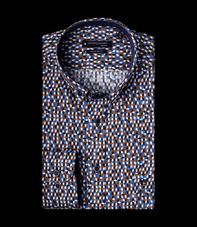 Giordano Graphic Shirt - Dark Orange