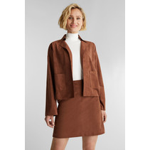 Recyled: Jacket Imitation Suede Look - Brown