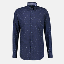 Overhemd met Stretch Effect - Dark Navy