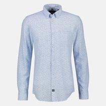Shirt in Melange Look - Light Blue