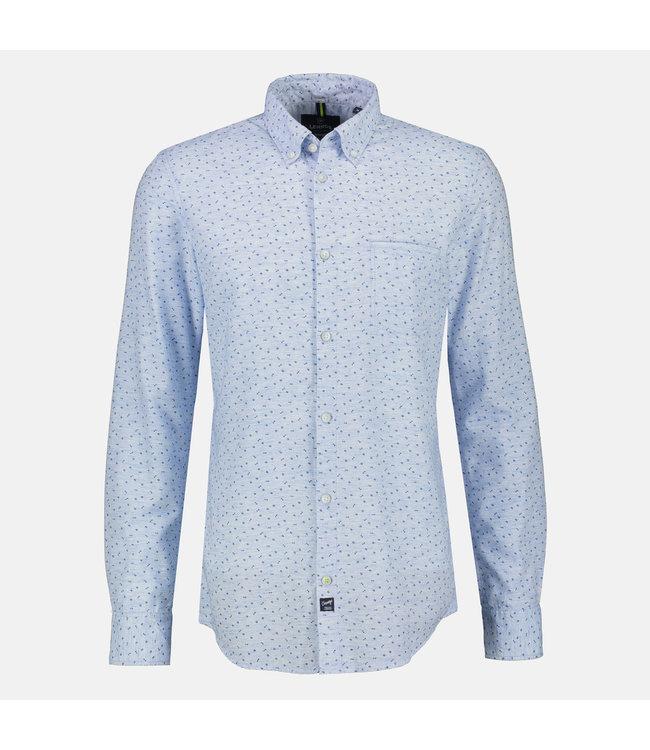 Lerros Hemd in Melange Optik - Light Blue