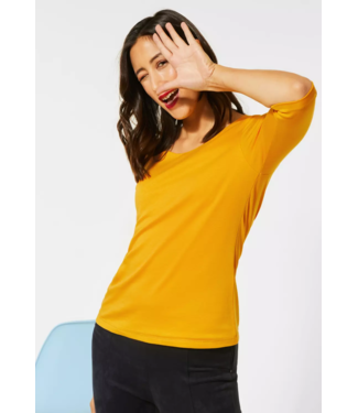 Street One Basic Shirt Pania - Amber Yellow