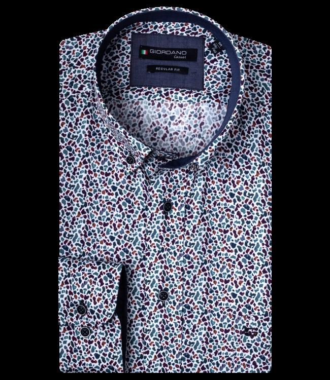 Giordano Shirt with Print - Dark Green