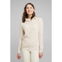 Ribbed Sweater with Cashmere - Sand