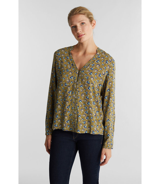 Esprit Blouse from LENZING™ ECOVERO™ - Olive