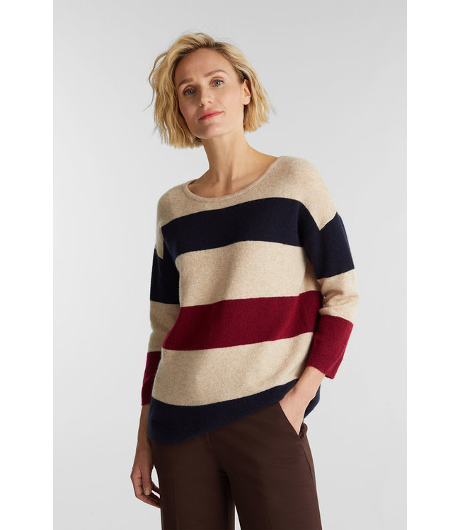 Esprit Knitted Sweater with Wool - Sand